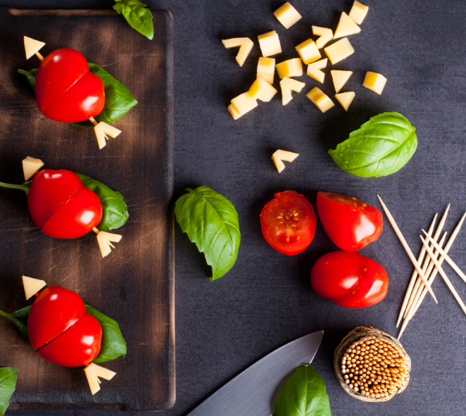 Brochettes de tomates cerise
