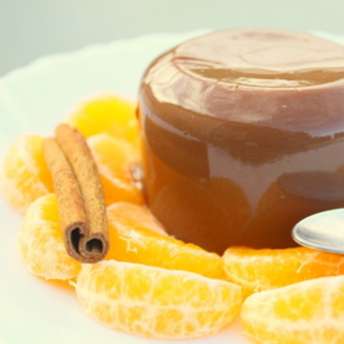 Crème chocolat et clémentines de Corse mi- confites