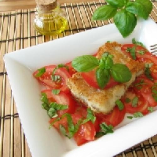 Cabillaud à la tomate et au basilic