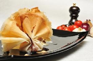 Aumônières de boudin noir aux pommes