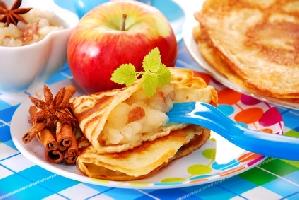 Crêpes aux pommes et au pain d'épices