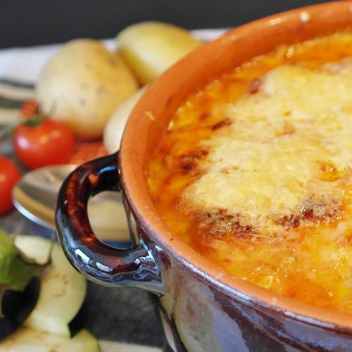 Gratin de poireaux au fromage à raclette