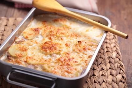Gratin Munster, pommes de terre et lardons