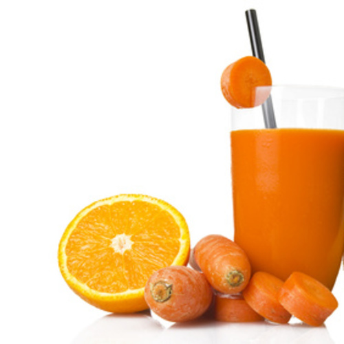 Jus d'orange, carotte et citron