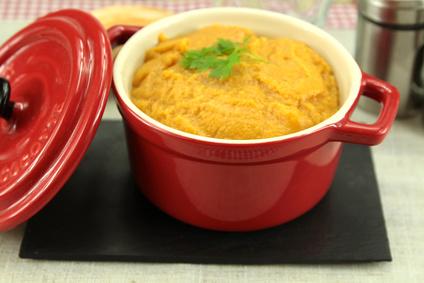 Purée de courge butternut au curry
