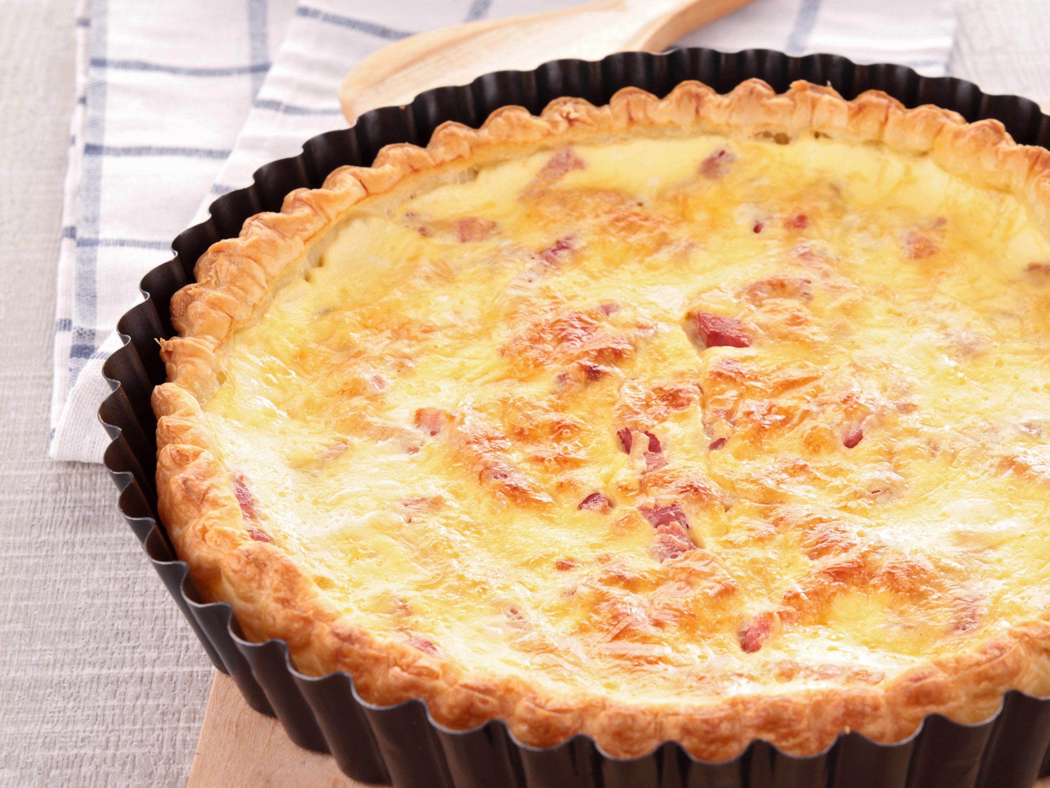 Quiche au 4 fromages et jambon