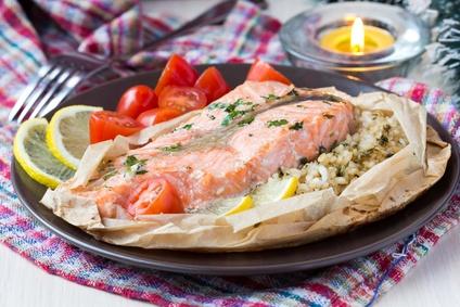 Risotto de saumon