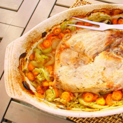 Rouelles de porc aux légumes
