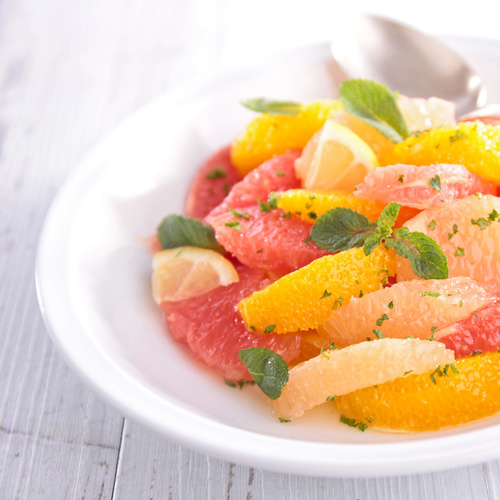 Salade de pamplemousses à la menthe
